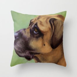 Rex - Portrait of a dog Throw Pillow