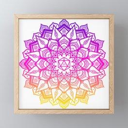 20 dice dnd mandala fade Framed Mini Art Print