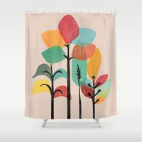 tropical Shower Curtains featuring Tropical Groove by Picomodi