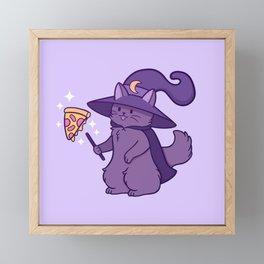 Kitty Wizard Framed Mini Art Print
