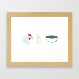 Chicken Noodle Soup Framed Art Print