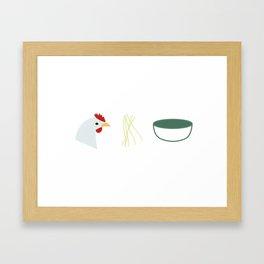 Chicken Noodle Soup Framed Art Print