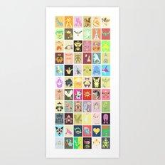 Pocket Monster of Hoenn Shiny Edition Art Print