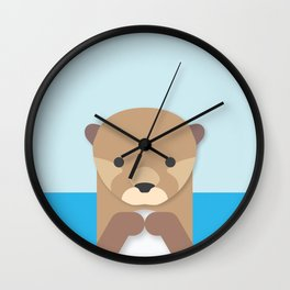 Otter Portrait Wall Clock