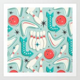 Bowl-A-Rama Aqua Art Print