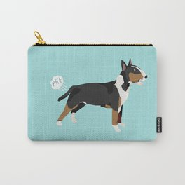 Bull Terrier tricolored dog breed funny dog fart Carry-All Pouch