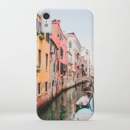 Colorful Pink Yellow Blue Venice Canals | Europe Italy City Travel Photography iPhone Case