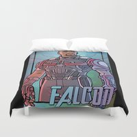 millenium falcon Duvet Covers featuring Falcon by DeanDraws