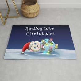 Christmas Polar Bear Rug