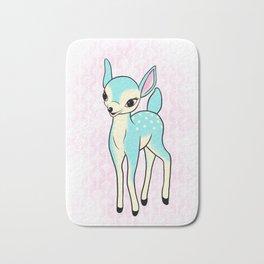 Kitsch turquoise deer Bath Mat