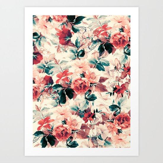FLORAL PATTERN 09 Art Print