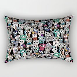 Gemstone Owls Rectangular Pillow