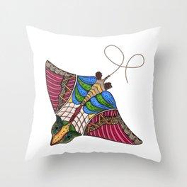 Colorful Stingray Throw Pillow