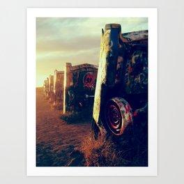 Cadillac Ranch Art Print