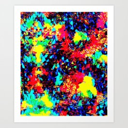 Feast of the colors Art Print