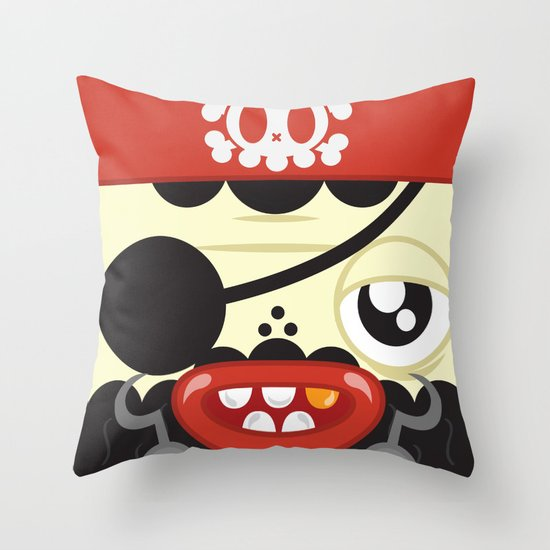 Pirate in Love Throw Pillow