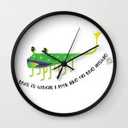 on the inside : 10 legs Wall Clock