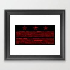DC Flag Red Framed Art Print