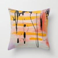 graffiti Throw Pillows featuring Graffiti by Iris & Ino