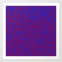 red on blue 2 Art Print