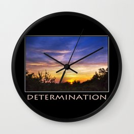 Inspirational Determination Wall Clock