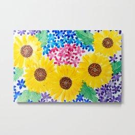 Sunflower Bouquet Flowers Metal Print