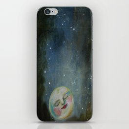 Always Kiss the Moon Goodnight  iPhone Skin