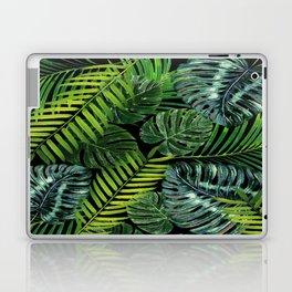 Jungle Tangle Green On Black Laptop & iPad Skin