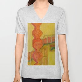 For the Squares: A Party at Auntie Mame's Unisex V-Neck