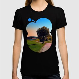 A tree, a road and summertime T-shirt