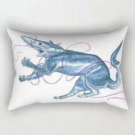 Blue Shark Cat :: Series 1 Rectangular Pillow