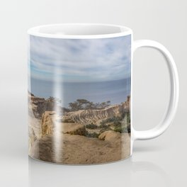 Mid-morning at Broken Hill Trail, Torrey Pines State Park, San Diego, California Coffee Mug