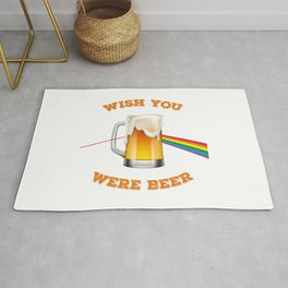 Wish you were beer, for beer and rock and roll lovers Rug