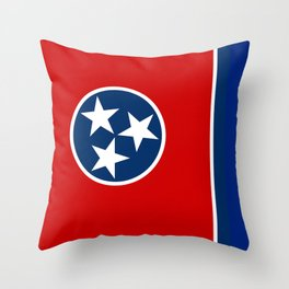 State flag of Tennessee - Authentic version Throw Pillow