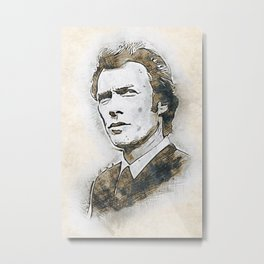 A Tribute to CLINT EASTWOOD Metal Print