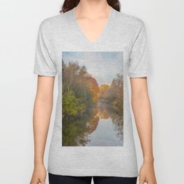 Creek View from Mill Street Unisex V-Neck
