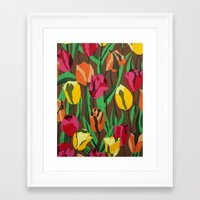 tulips Framed Art Prints featuring Tulips  by Marjolein