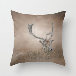 In Plain Sight - Sika Deer - Wildlife Throw Pillow