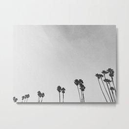 PALM TREES II (B+W) Metal Print