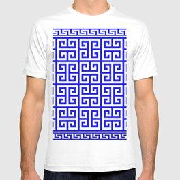 Greek Key (Blue & White Pattern) T-shirt