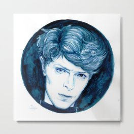 Planet Earth is Blue // Bowie Metal Print