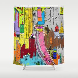 Vision Medellin Colombia Shower Curtain