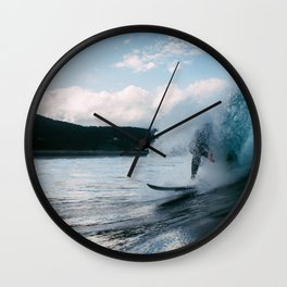 Catching the Wave Wall Clock