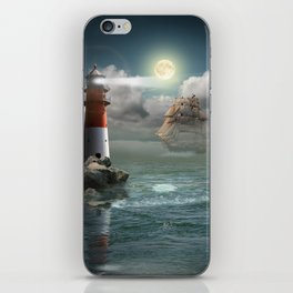 Lighthouse Under Back Light iPhone Skin