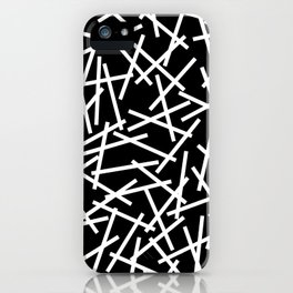 Kerplunk Black and White iPhone Case