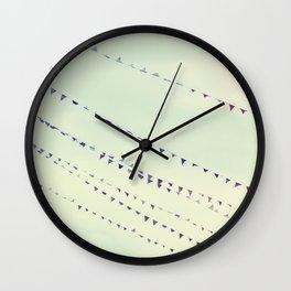 pennants Wall Clock