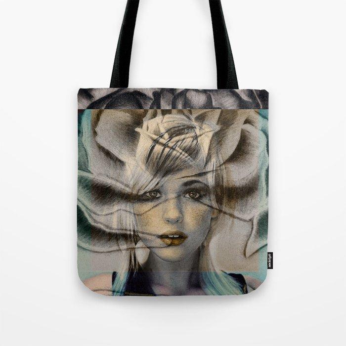 Rose Face Tote Bag