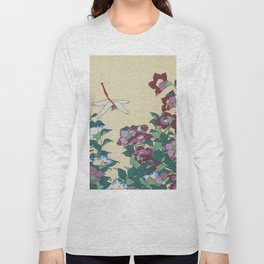 Hokusai (1760-1849) Bell-flowers and Dragonfly Long Sleeve T-shirt