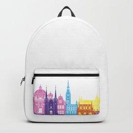 Gdansk skyline pop Backpack