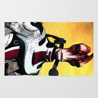 mass effect Area & Throw Rugs featuring Mass Effect - Mordin Solus by MarcoMellark
